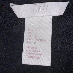 H&M Tops - H&M Lace Yoke Tee Large